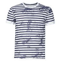 textil Herr T-shirts Yurban OLORD Marin / Vit