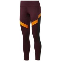 textil Dam Byxor Reebok Sport Wor Mesh Tight Orange, Rödbrunt