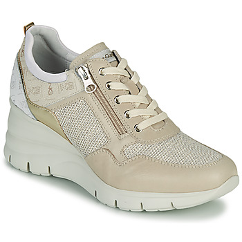 Skor Dam Sneakers NeroGiardini FLORA Beige / Guldfärgad