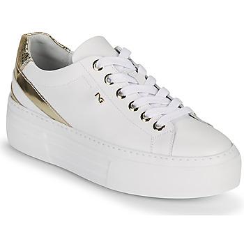 Skor Dam Sneakers NeroGiardini LAITO Vit / Guldfärgad