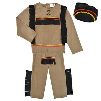 textil Pojkar Förklädnader Fun Costumes COSTUME ENFANT INDIEN BIG BEAR Flerfärgad