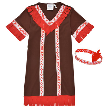 textil Flickor Förklädnader Fun Costumes COSTUME ENFANT INDIENNE FOX KITTEN Flerfärgad