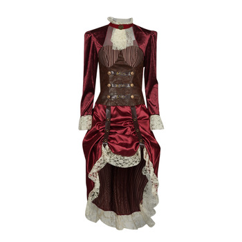 textil Dam Förklädnader Fun Costumes COSTUME ADULTE LADY STEAMPUNK Flerfärgad