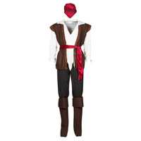 textil Herr Förklädnader Fun Costumes COSTUME ADULTE PIRATE THUNDER Flerfärgad