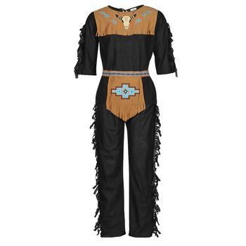textil Herr Förklädnader Fun Costumes COSTUME ADULTE INDIENNE SHE-WOLF Flerfärgad