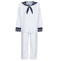 textil Herr Förklädnader Fun Costumes COSTUME ADULTE MARIN BLANC Vit
