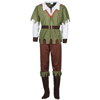 textil Herr Förklädnader Fun Costumes COSTUME ADULTE FOREST HUNTER Flerfärgad