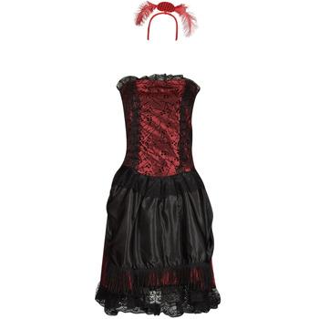 textil Dam Förklädnader Fun Costumes COSTUME ADULTE SALOON GIRL Flerfärgad