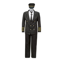 textil Herr Förklädnader Fun Costumes COSTUME ADULTE PILOTE Flerfärgad