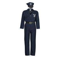 textil Herr Förklädnader Fun Costumes COSTUME ADULTE OFFICIER DE POLICE Flerfärgad