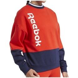 textil Dam Sweatshirts Reebok Sport TE Linear Logo Crew Röda, Grenade