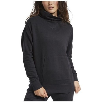 textil Dam Sweatshirts Reebok Sport TE Textured Warm Coverup Svarta