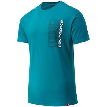 textil Herr T-shirts New Balance NBMT03553TMT Blå