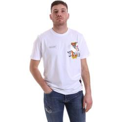 textil Herr T-shirts Disclaimer 21EDS50512 Vit