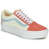 Skor Dam Sneakers Vans OLD SKOOL PLATFORM Vit / Rosa