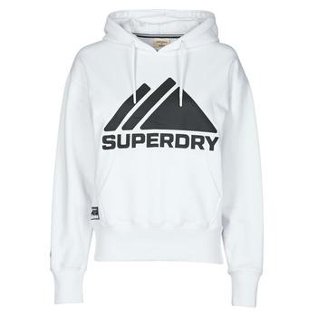 textil Dam Sweatshirts Superdry MOUNTAIN SPORT MONO HOOD Vit