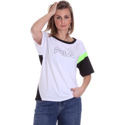 textil Dam T-shirts Fila 683145 Vit