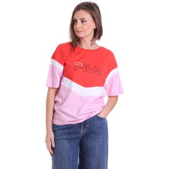 textil Dam T-shirts Fila 683162 Röd