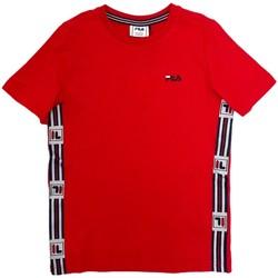 textil Barn T-shirts Fila 688118 Röd