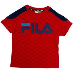textil Barn T-shirts Fila 688077 Röd