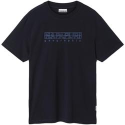 textil Herr T-shirts Napapijri NP0A4EOB Blå