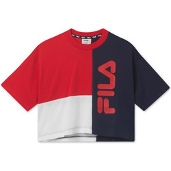 textil Barn T-shirts Fila 687998 Röd