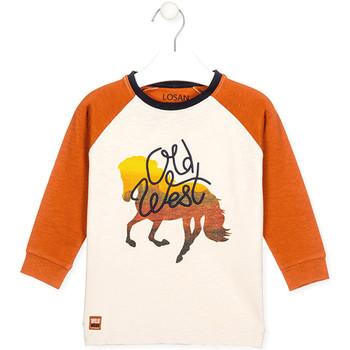 textil Barn T-shirts & Pikétröjor Losan 025-1018AL Vit
