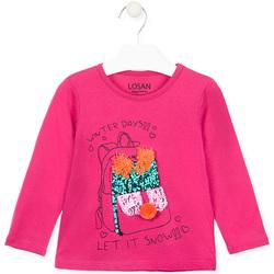 textil Flickor Långärmade T-shirts Losan 026-1201AL Rosa
