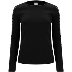textil Dam Långärmade T-shirts Freddy F0WSDT6 Svart