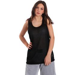 textil Dam Linnen / Ärmlösa T-shirts Converse 10007415 Svart
