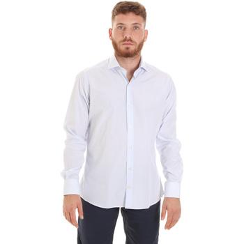 textil Herr Långärmade skjortor Les Copains 20P.922 P3196SL Vit