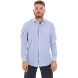 textil Herr Långärmade skjortor Les Copains 20P.623 P3196SL Blå