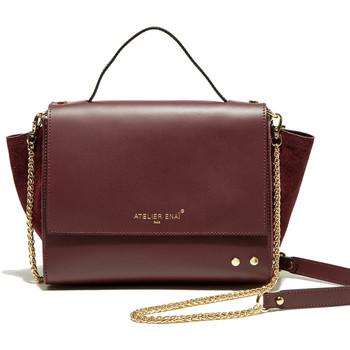 Väskor Dam Handväskor med kort rem Atelier Enai JOYCE BORDEAUX