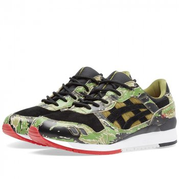 Skor Sneakers Asics Gel Lyte III x Atmos Green Camo Green Camo
