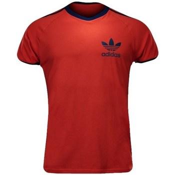 textil Herr T-shirts adidas Originals Sport Ess Tee Röda