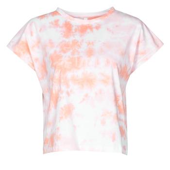 textil Dam T-shirts Yurban ONILA Vit / Rosa