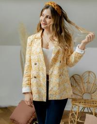 textil Dam Jackor & Kavajer Céleste ALIZE Gul / Vit