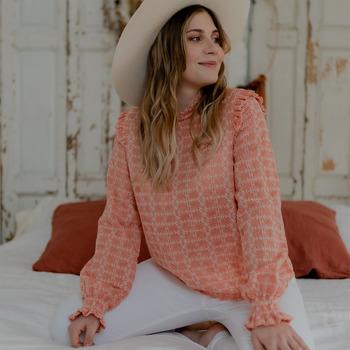 textil Dam Blusar Céleste HIRONDELLE Rosa