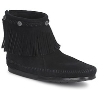 Skor Dam Boots Minnetonka HI TOP BACK ZIP BOOT Svart