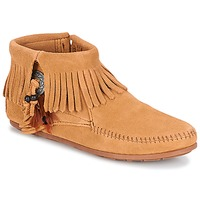Skor Dam Boots Minnetonka CONCHO FEATHER SIDE ZIP BOOT Kamel