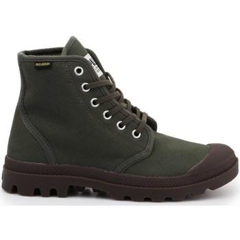 Skor Herr Höga sneakers Palladium Manufacture Pampa HI Originale Gröna, Bruna