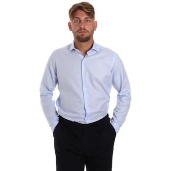 textil Herr Långärmade skjortor Les Copains 000.058 P3196SL Blå