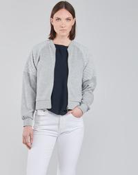 textil Dam Sweatshirts JDY JDYNAPA L/S RAGLAN BOMBER JRS Grå