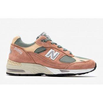 Skor Sneakers New Balance 991 x Patta Dusty Pink/Light Petrol