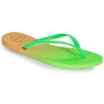 Skor Dam Flip-flops Havaianas SLIM GRADIENT Vit / Grön