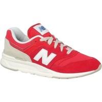 Skor Barn Sneakers New Balance 997 Vit, Röda