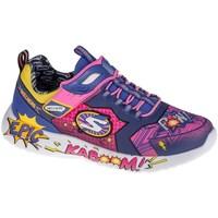 Skor Barn Sneakers Skechers Dynamight Blå, Gula, Rosa
