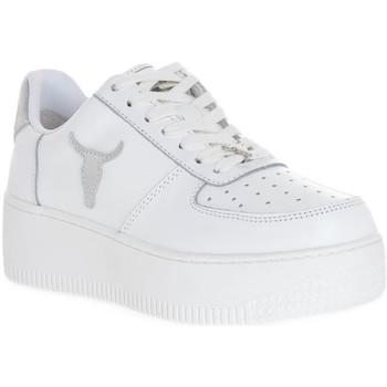 Skor Dam Sneakers Windsor Smith RICH BRAVE WHITE SILVER PERLISHED Bianco