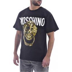 textil Herr T-shirts Moschino ZA0716 Svart