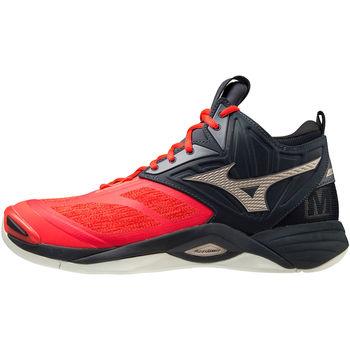 Skor Herr Träningsskor Mizuno Chaussures  Wave Momentum 2 Mid rouge/or/noir
